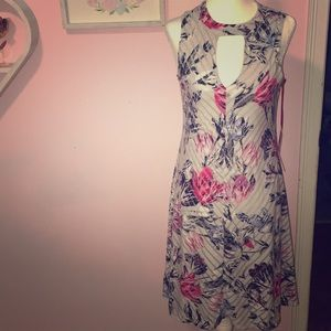 Jennifer Lopez gray floral dress NWT XS
